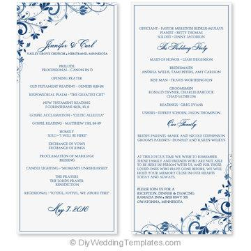 free download wedding program template koni polycode co