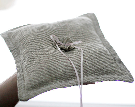 زفاف - Ring Bearer pillow- wedding pillow - linen ring bearer -  weddings pillows collection from Pillowlink - rustic ring bearer pillow