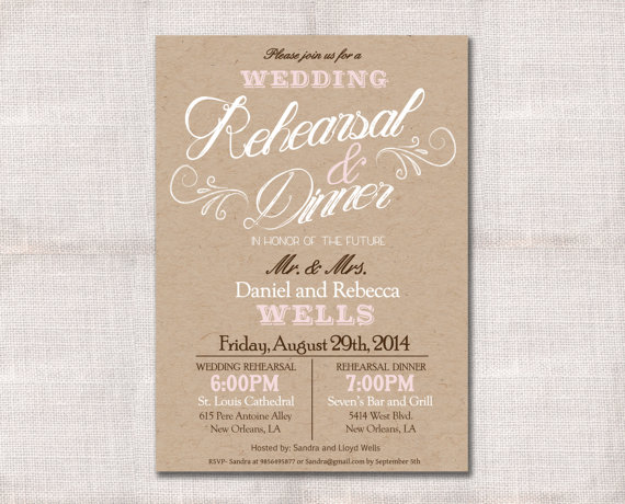Dress Rehearsal Invitations as good invitation design
