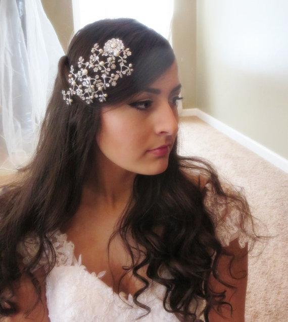 زفاف - Bridal headpiece, Bridal hair comb, Swarovski crystal headpiece, Wedding hair piece, Bridal hair vine, Vintage hair comb, Hair accessory