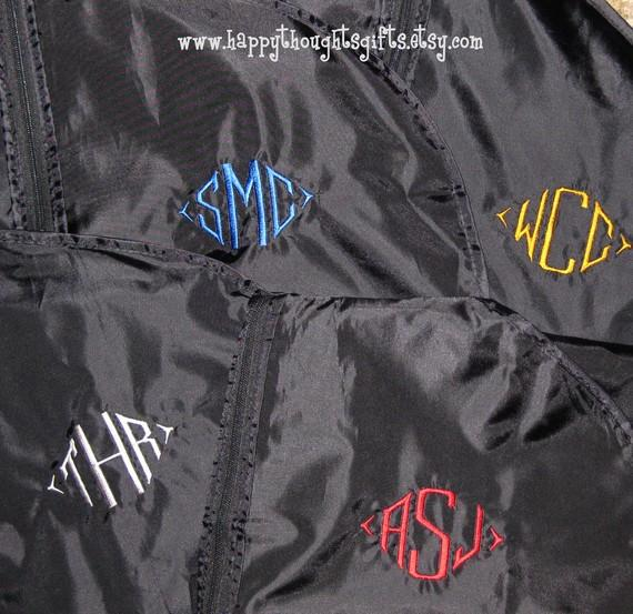Monogrammed Garment Bag Monogram Hanging Gift Groomsmen Or Bridesmaids