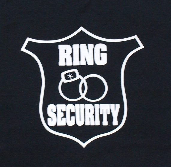 Mariage - Ring Bearer Shirt, Ring Security Shirt, Customize with his name