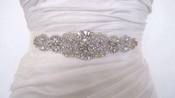 Свадьба - Bridal sash belt,Crystal rhinestone belt,Bridal belt,Sash belt,Wedding dress belt,,Kim
