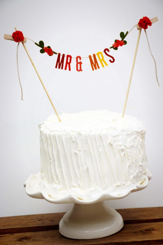 Banner Wedding Cake Topper Hochzeit Wedding Cake Banner