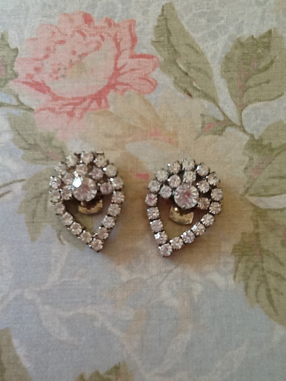 Wedding - Stunning Art Deco Art Nouveau Rhinestone Shoe or Dress Clip Set Wedding Prom Bride Bridesmaid