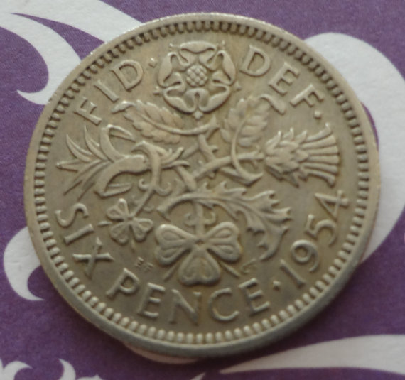 Свадьба - 1954 And A Silver Sixpence In Her Shoe Wedding Bride Groom Shoes Bridal Shower Gift Keepsake Coin Token of Luck