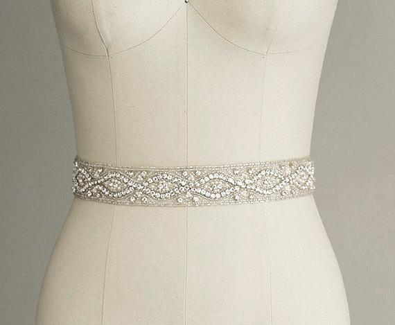 catherine crystal pearl bridal belt sash rhinestone