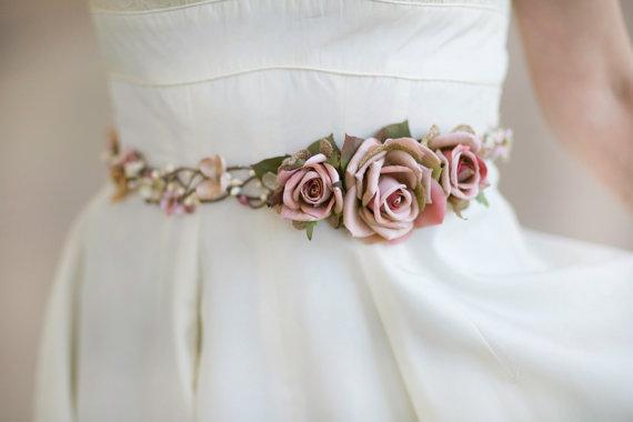 Bridal Belt Bridal Belt Sash Pink Wedding Belt Rustic Wedding