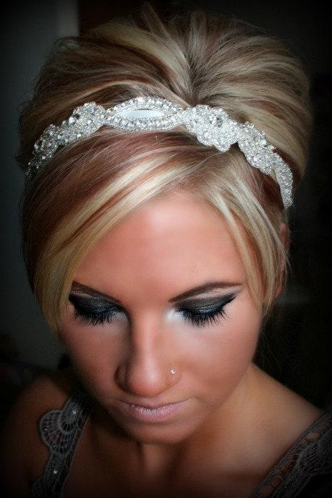 SWEETHEART- Bridal Rhinestone Headband, Wedding, Bridal, Hair ...