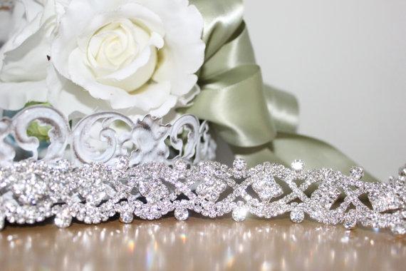 Hochzeit - Gorgeous Bridal Rhinestone Wedding Gown Sash Belt