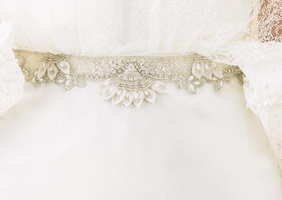 Свадьба - Sample Sale, Final Sale, Beaded Belt, Bridal Sash, Wedding Sash, Wedding Belt, item 36