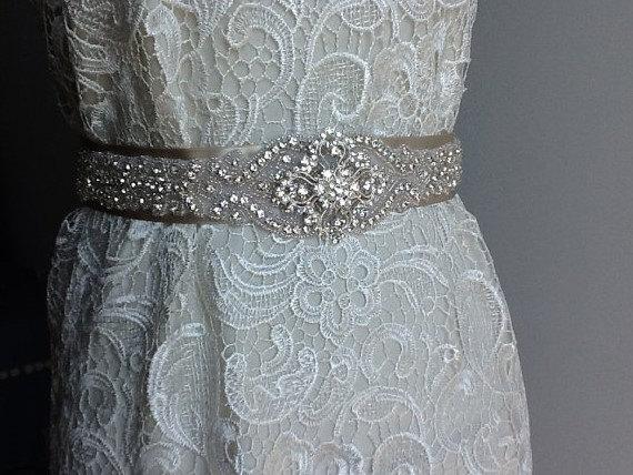 Mariage - Rhinestone Wedding Belt,  Rhinestone Wedding Sash, Bridal Sash, Wedding Sash