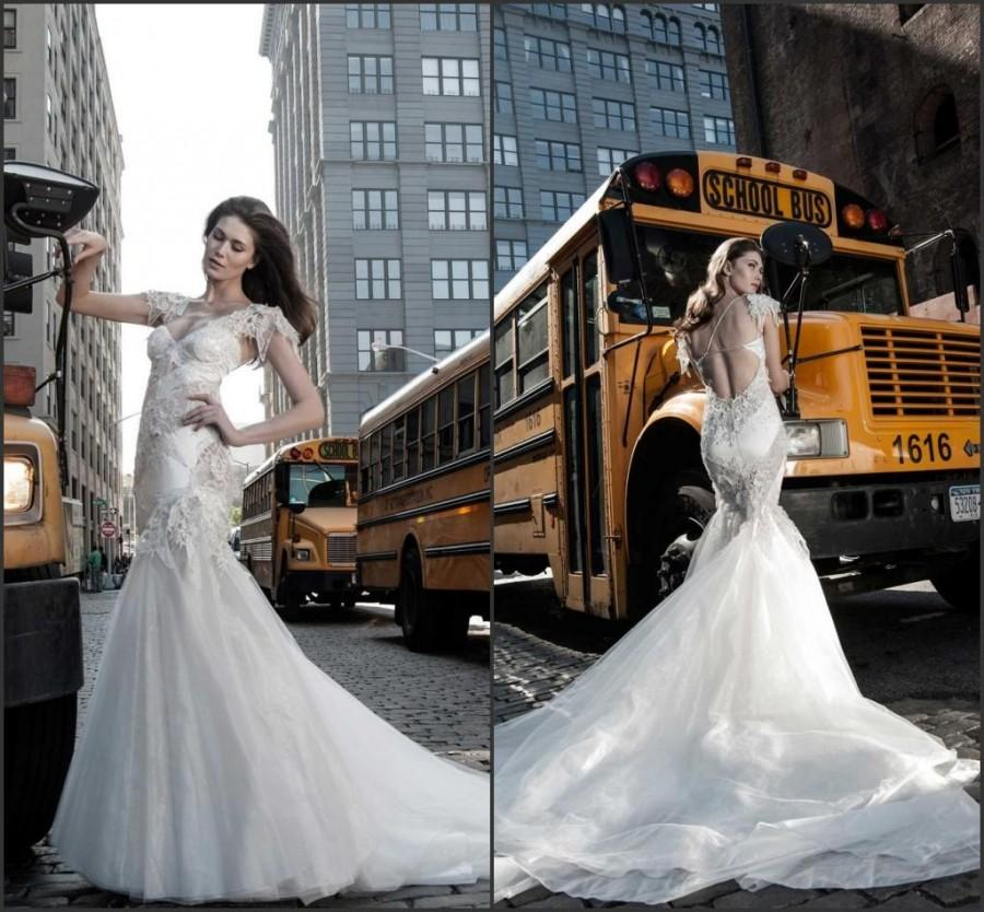 Exquisite Backless Mermaid Wedding Dresses Gowns Pnina Tornai Sweep ...
