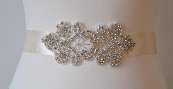 زفاف - Bridal Sash,Wedding Dress Sash Belt, Rhinestone Sash, Rhinestone Bridal Bridesmaid Sash Belt, Wedding dress sash