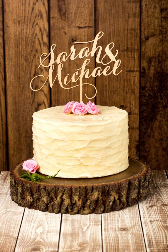 Свадьба - Custom Wedding Cake Topper