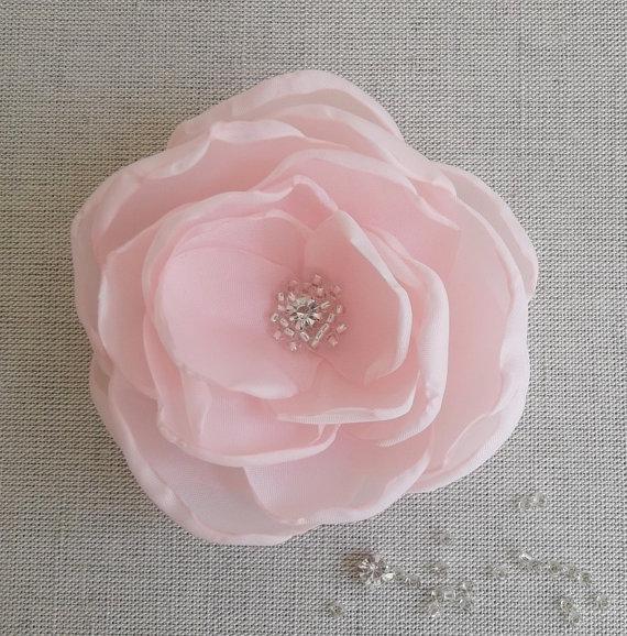 Blush coral pink fabric flower in handmade bridal accessory blush coral pink fabric flower in handmade bridal accessory bridesmaids hair shoe clip brooch flower girls birthday gift weddings mightylinksfo