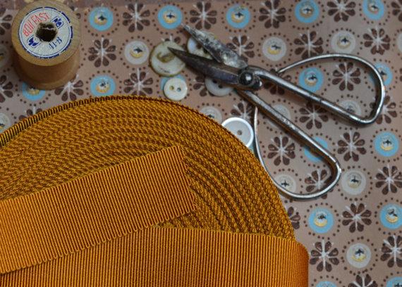 زفاف - burnished gold butterscotch grosgrain ribbon