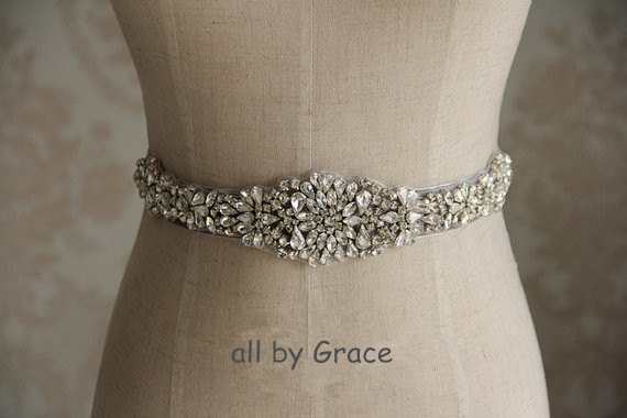 Wedding - SALE rhinestone bridal applique,beaded applique, wedding sash belts, crystal beaded sash, wedding accessories,beaded rhinestone applique