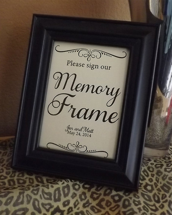 Guest Book Memory Frame Please Sign Our Memory Frame ...