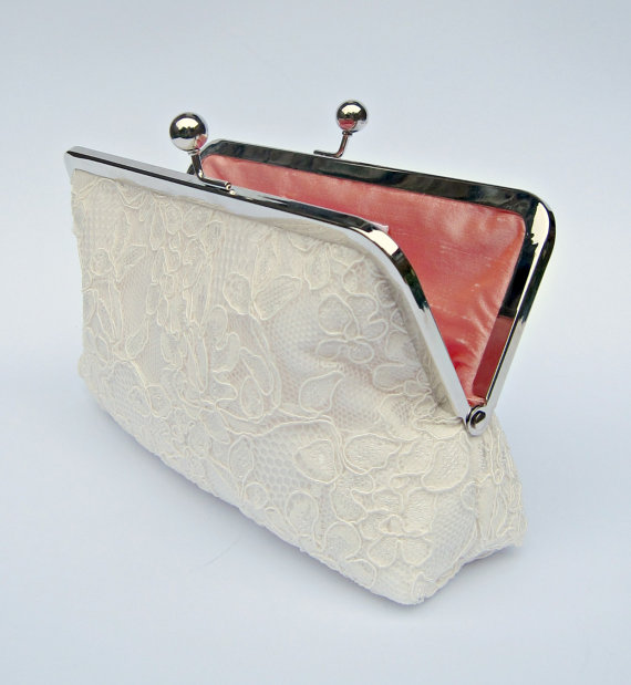 Ivory Lace Clutch Ivory Bridal Clutch Off White Wedding Clutch Ivory Clutch Bridesmaid ...