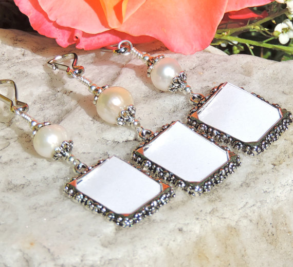 Wedding Bouquet Photo Charms Memory With Freshwater Pearsl X3