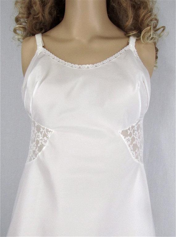 Vintage Full Slip Lingerie 34/36 Barbizon Swishy Taffeta Bridal ...