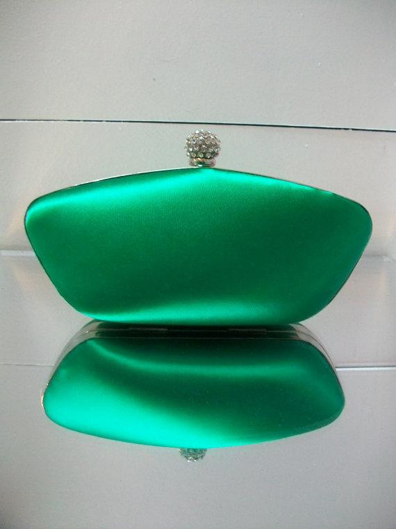 Mariage - Wedding Clutch - Emerald Green - Dyeable Clutch - Choose From Over 100 Colors - Wedding Handbag - Customize  Color - Bespoke Handbag Clutch