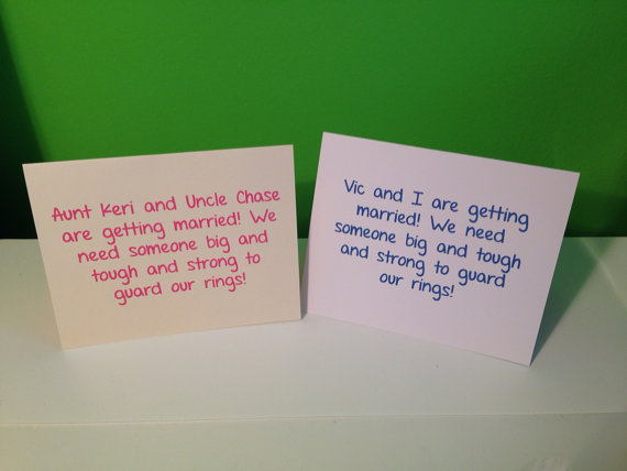 Mariage - Will You Be My Ring Bearer Wedding Card