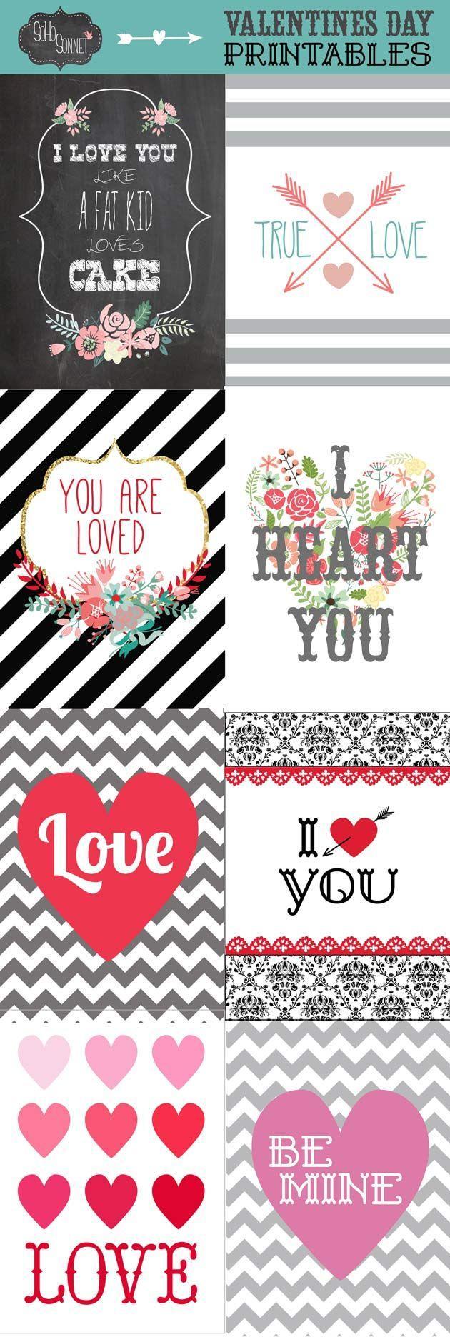Hochzeit - Free Valentines Day Printables