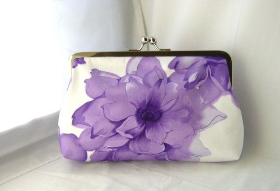 Mariage - Gorgeous Purple Clutch - Wedding Clutch - Bridesmaids Clutch - Gloria