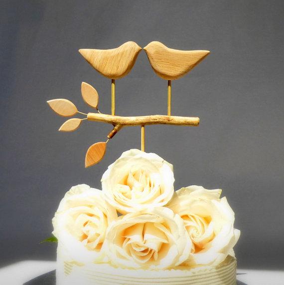 Wedding Cake Topper, Bird Cake Topper/ Love Birds For Your Rustic ...