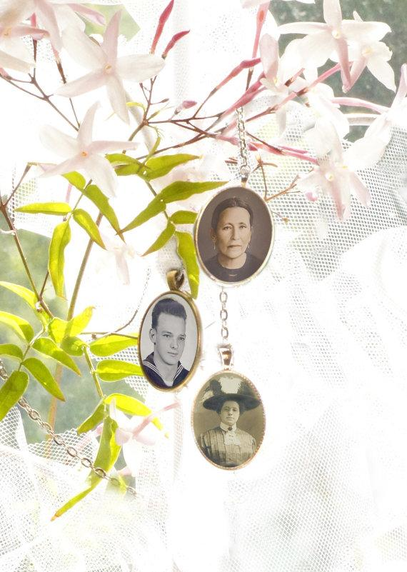 Mariage - 3 Wedding Bouquet charm kit -Photo Pendants charms for family photo (includes everything you need including instructions)