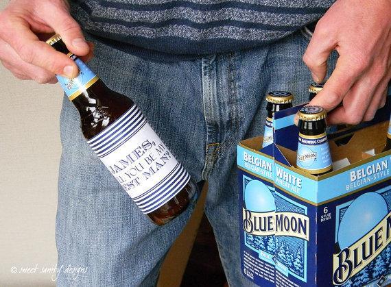 Свадьба - Set of Custom Beer Bottle Labels -  Groomsmen, Grooms Party, Best Man // Set of 8