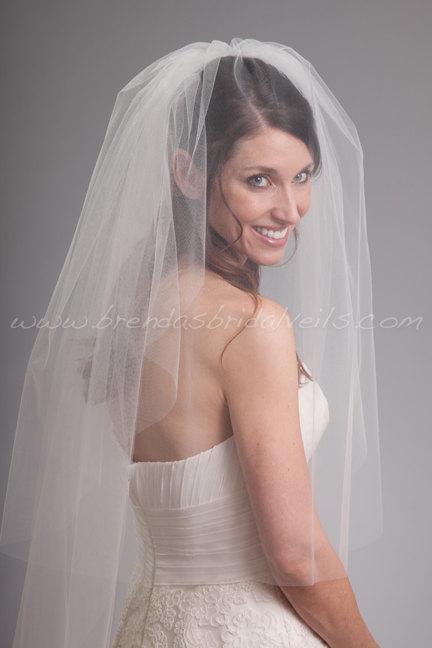 Свадьба - Bridal Veil Double Layer, Wedding Veil with Blusher - Kimberly Veil