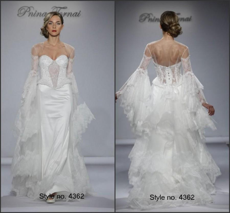 2015 backless fall wedding dresses with wrap satin and for Satin and lace wedding dresses