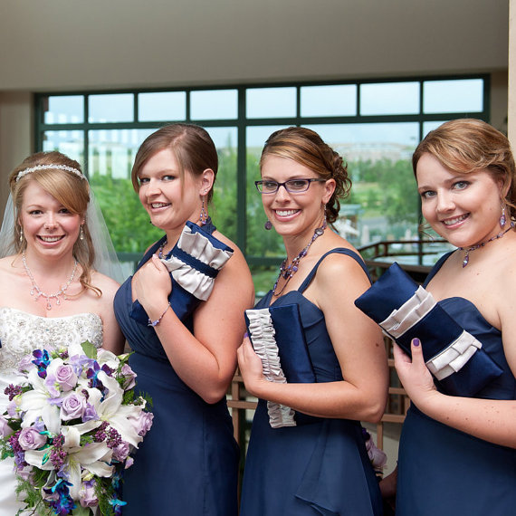 Wedding - Bridesmaid clutches custom made in your wedding color scheme