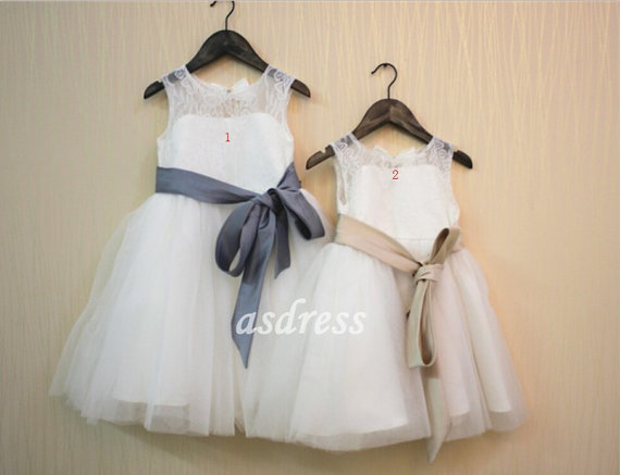 NEW Lace Tulle Flower Girl Dress Wedding Easter Junior Bridesmaid Baptism Baby+