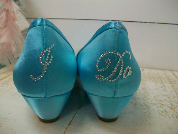Wedge Wedding Shoes I DO Decals On Heels Starfish One Inch
