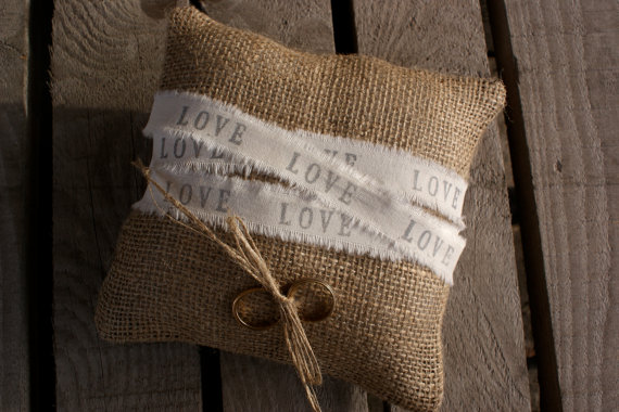 Hochzeit - Wrapped in Love ring pillow.
