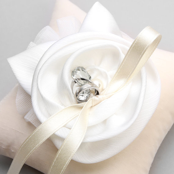 Ring Pillow, Wedding Ring Pillow, Bridal Ring Pillow, Flower Ring Pillow - Shannon #2228177 ...