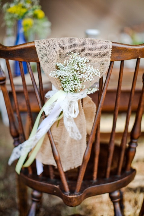 Burlap chair sash - Rustic wedding & Rustic Wedding - Burlap Chair Sash - Rustic Wedding #2228185 - Weddbook