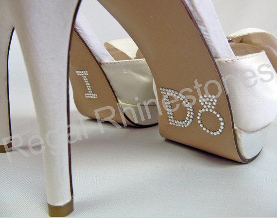 I Do Wedding Shoe Decals