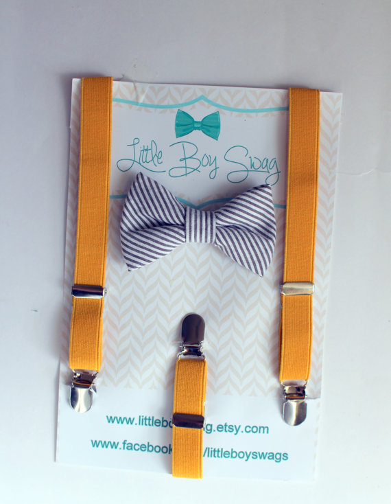 Hochzeit - Boys Bow Tie Suspenders Set..Valentines Day Bow Tie..Boy Formal Wear..Bow Tie Suspenders..Baby Clothing..Ring Bearer Outfit..Bow Tie..Boys