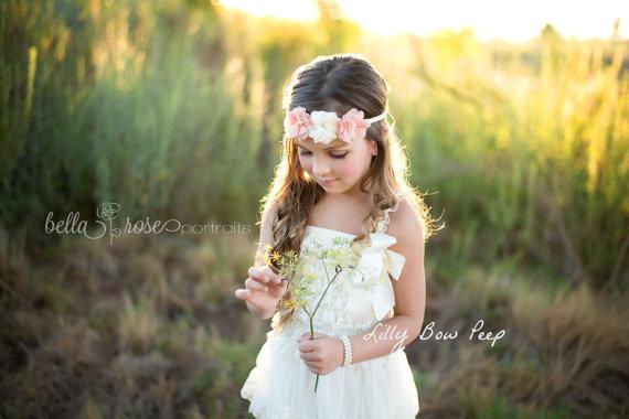 Hochzeit - Flower Girl Dress-Baptism Dress-Ivory Lace Dress-Baby girl Clothes-Newborn Girl Dress-Christmas Dress-Baby Dress-Christening Dress-Wedding