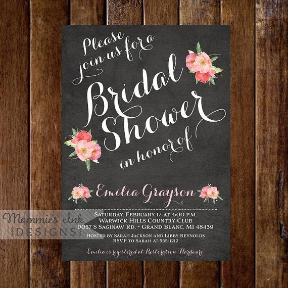 Wedding Shower Invitations Etsy for luxury invitations template