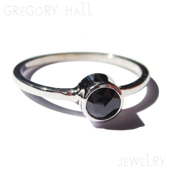 black ring sterling silver engagement rings womens