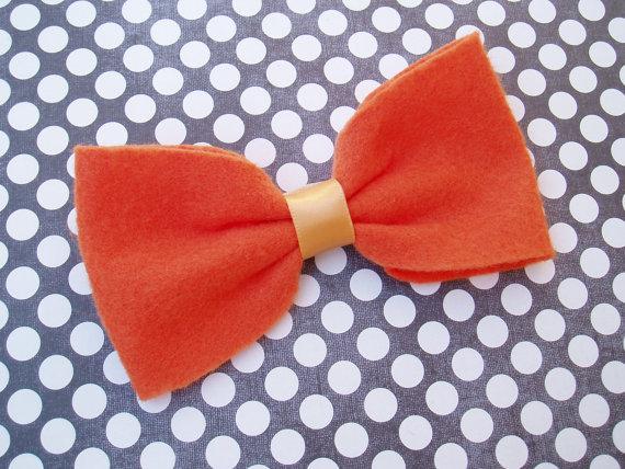 زفاف - Dog Halloween Costume doggie Bow Tie Collar Attachment Pet Outfit Slider ORANGE bowtie formal wear, Clothing wedding SMALL or LARGE