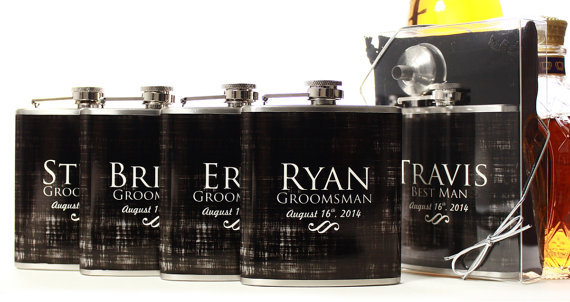 Wedding Party Gifts Flasks For Groomsmen Custom Best Men And Ushers