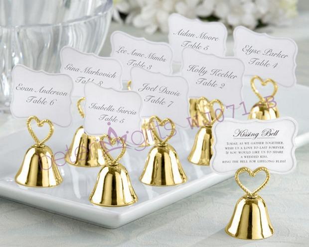 "Свадьба - ""Kissing Bells"" Place Card/Photo Holder"