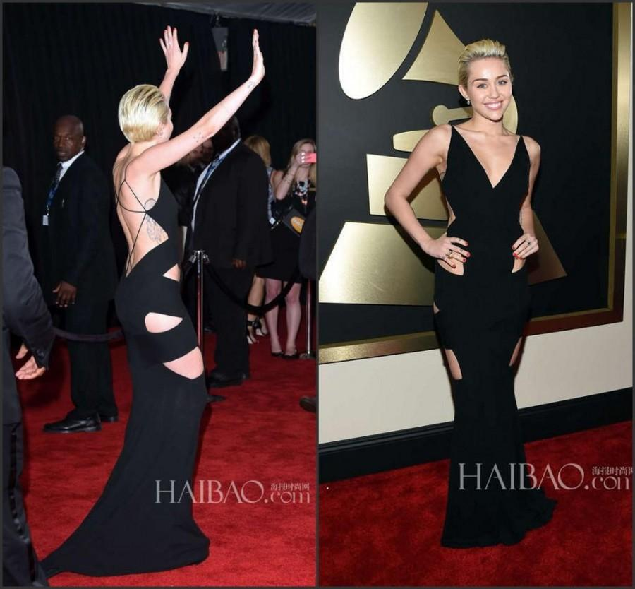 Miley Cyrus Wedding Dress.Miley Cyrus Newest 2015 57th Grammy Awards Sexy Celebrity Evening